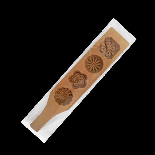 CP3004四連櫸木握把花印糕模