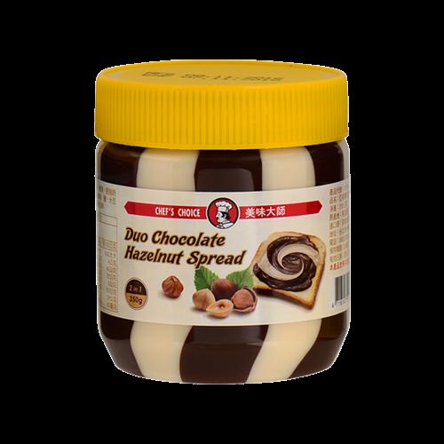 美味大師亞美樂巧克力榛果雙色醬350g