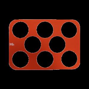三能 SN0563圓形瓦片酥矽膠墊8入