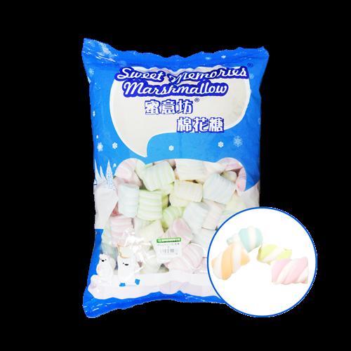 蜜意坊TO-35特大彩花捲棉花糖1kg(4cm)