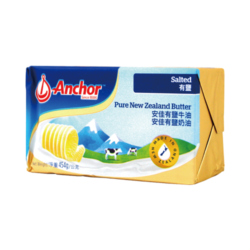 [春賞甜點祭]安佳奶油塊(有鹽)454g-冷藏