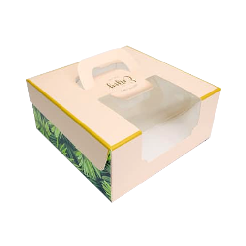 會員優惠-6吋蛋糕盒(時尚粉綠)