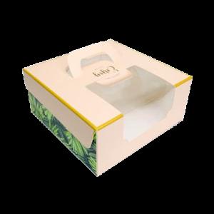 6吋蛋糕盒(時尚粉綠)