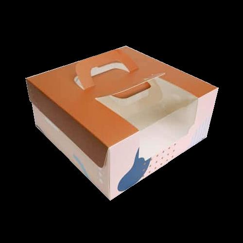 6吋蛋糕盒(摩卡幾何)