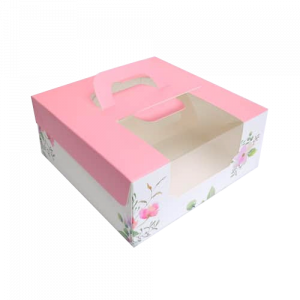 6吋蛋糕盒(粉紅花園)