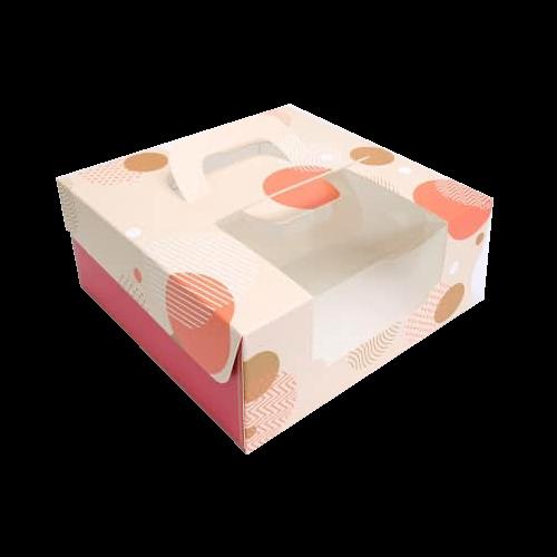 會員優惠-6吋蛋糕盒(和風紅)