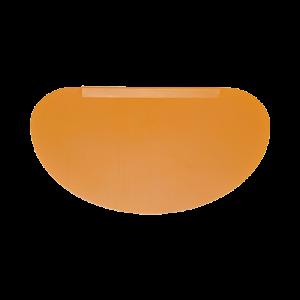 三能 SN4072-半圓形軟質塑膠刮板(黃)