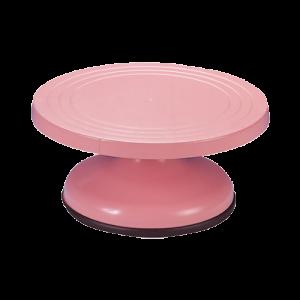 三能 SN4153-高粉紅塑膠轉台27cm