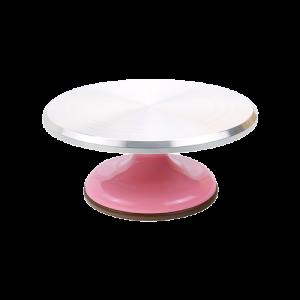 三能 SN4170-粉紅色馬卡龍蛋糕轉台