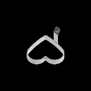 三能 SN4627白鐵固定柄心型煎蛋器