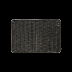 三能 黑色長方仿藤板SN4558