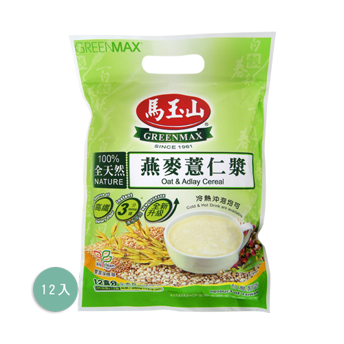 馬玉山燕麥薏仁漿12入