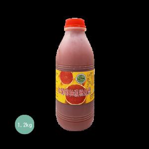 永大食品 紅葡萄柚濃糖果漿1.2KG-冷凍