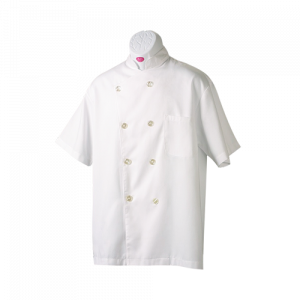 佰潔廚師衣短袖雙排