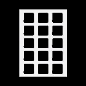 焙蒂絲方形白色戀人餅乾模(15孔)