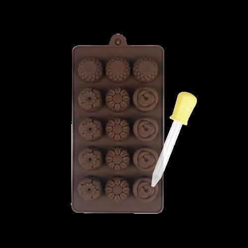 焙蒂絲朵朵花矽膠模(15連)