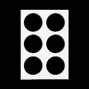 焙蒂絲圓形瓦片餅乾模(6孔)