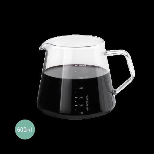 Tiamo HG2185耐熱玻璃咖啡下壺 600ml