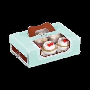 迷戀-開窗6入裝蛋糕盒(附方型內襯)