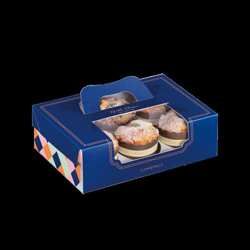 會員優惠-紳士品格-開窗6入蛋糕盒