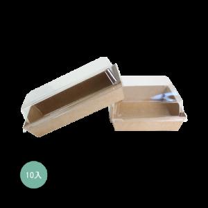 輕食盒正方-牛皮