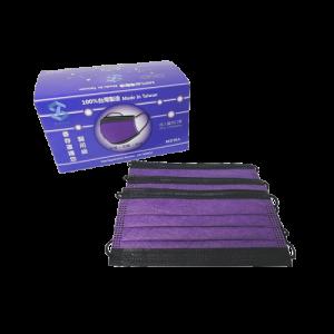 善存成人醫用口罩(黑堵紫)-50入