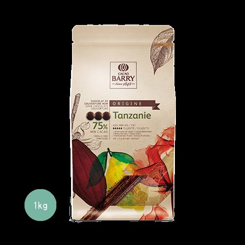 醇品坦尚尼亞苦甜調溫巧克力75%(鈕扣狀)1KG(客訂商品)