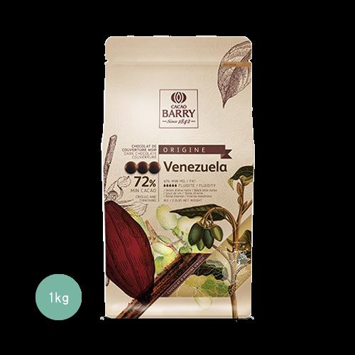 醇品委內瑞拉苦甜調溫巧克力72%(鈕扣狀)1KG(客訂商品)