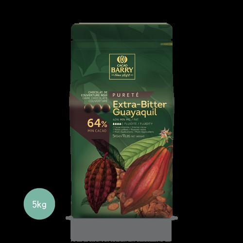 瓜瓦基爾調溫巧克力64%(鈕釦狀)5KG(客訂商品)