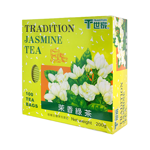 世家茉香綠茶防潮包(100入)