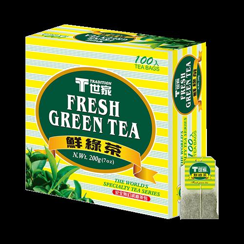 世家鮮綠茶包簡易包(100入)