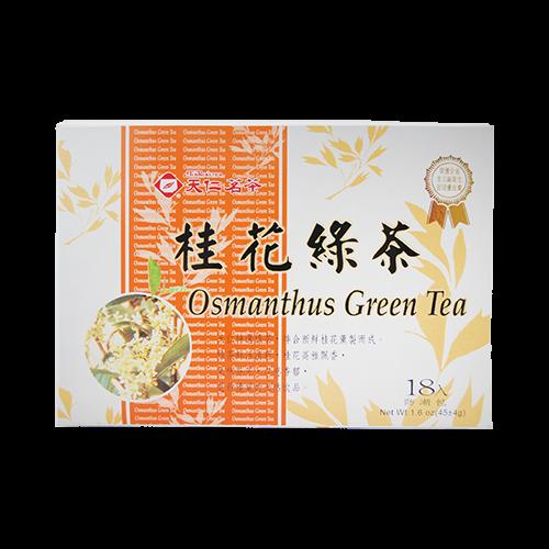 天仁原片桂花綠茶防潮包18入