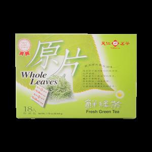 天仁原片鮮綠茶防潮包18入